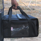 "PK-29V: Durable, reliable and insulated pizza delivery bags, pizza take out bags, 15"" L x 14"" W x 7"" H"