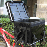 "PK-46B: On-vehicle delivery box, durable motorcycle fast food delivery boxes, 17"" L x 12"" W x 13"" H"