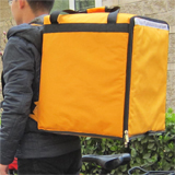 "PK-76Y: Insulated food backpack, middle pizza delivery bags to keep hot for long time, 16"" L x 15"" W x 18"" H"