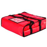 "PK-38V: Heated pizza delivery bag, thermal pizza bags, pizza delivery handbags, 16"" L x 16"" W x 7"" H"