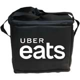 "PK-32U: Insulated food carrier with logo printed for free, just eat food delivery bags, 14"" L x 10"" W x 13"" H"